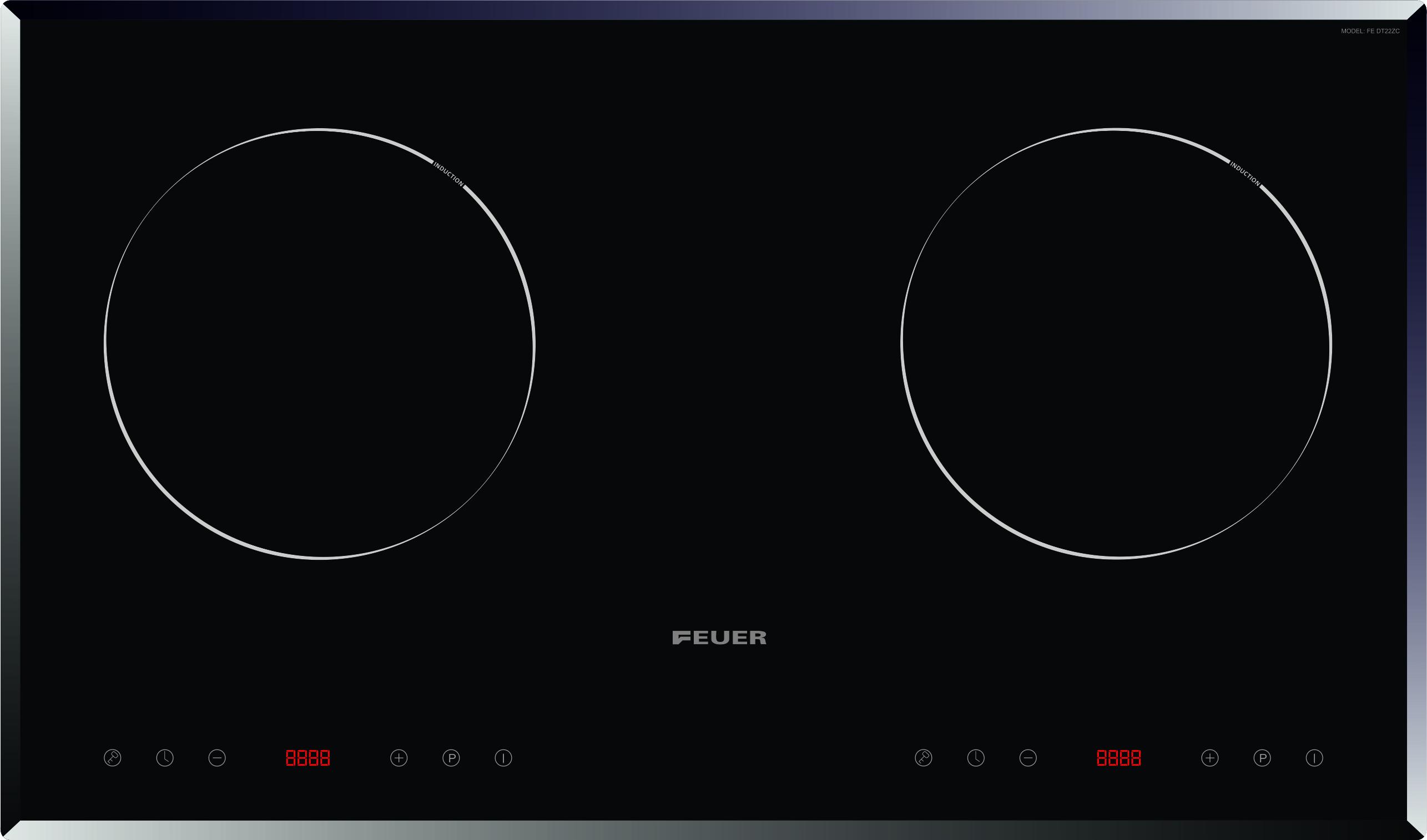 Bếp từ đôi Feuer Fe-DC22C cao cấp