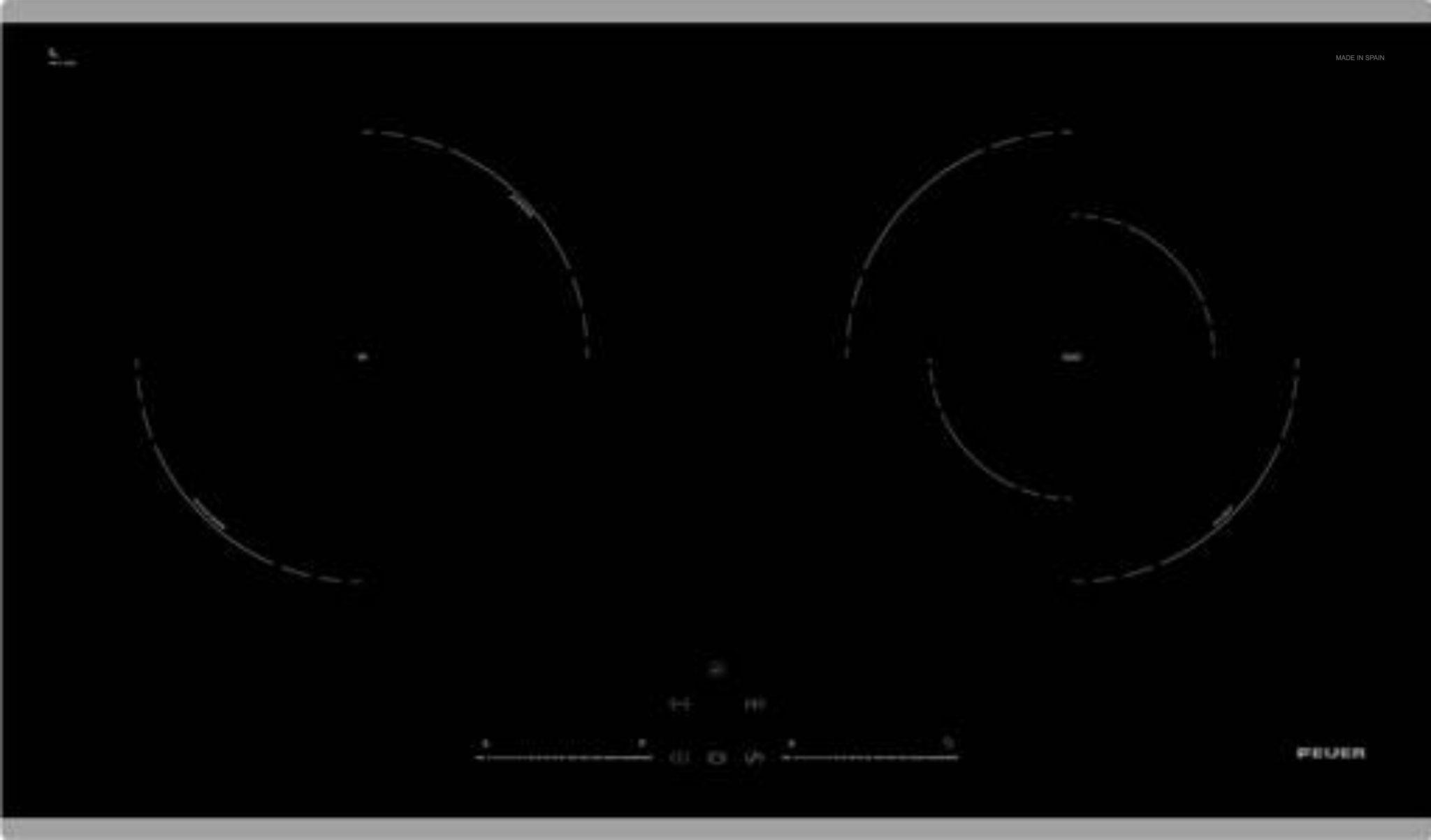Bếp điện Từ đôi Kết Hợp FEUER F66 Hi-light