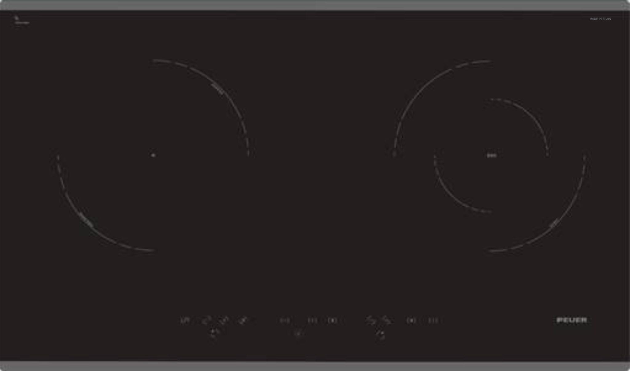 Bếp điện Từ đôi Kết Hợp FEUER F89 Hi-light